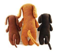 Dachshund Knitting Pattern. Cute!!
