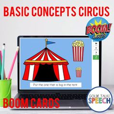 Boom Cards are no print no prep digital task cards. This Speech Therapy resource targets comprehension of basic concepts. Move the correct answer into the circus tent.Concepts targeted include: day / night ,big / small, hot / cold, heavy / light, asleep / awake, empty / full, clean / dirty, few / many, wet / dry, short / tall, healthy / sick, sit / stand, wide / narrow, quiet / loud