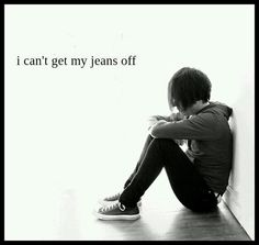 HAHAHAHA!! I will sooooo be thinking this from now on every time I see a skinny jean emo pic....