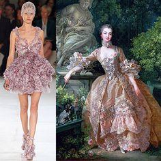 Who wore it better? McQueen S/S 12 vs Madame de Pompadour (1721), Francois Boucher