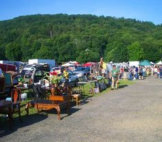 Elephant's Trunk Flea Market.  New Milford, CT.  I must go here with my sis!