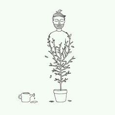 Regando (meu eu) jardim