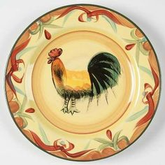 Pfaltzgraff Tuscan Rooster Salad Plate, Fine China Dinnerware by Pfaltzgraff. $7.99. Pfaltzgraff - Pfaltzgraff Tuscan Rooster Salad Plate - Blue,Green Scrolls On Yellow,Rooster