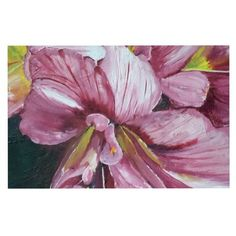 East Urban Home Cathy Rodgers 'Day Lily Blooms' Flower Decorative Doormat