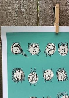 Owlphabet- two of my favorite things put together!