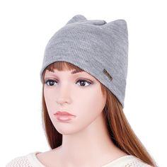 c55146d5656 Women Girls Winter Cat Ears Knit Cap Earmuffs Warm Beanie Hat Skullcap. Hats  For ...