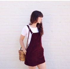 dress red dark burgundy rose purple corduroy dungaree dungarees dungaree dress buttons vintage thrift cute tumblr cool teenagers girl teenagers teenagers burgundy retro 90s style grunge