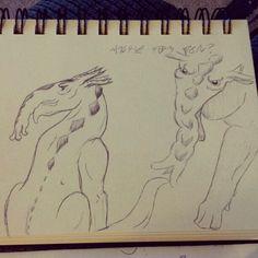 Pen sketching.