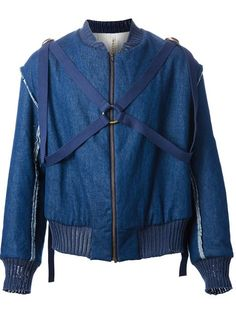 Sasu Kauppi strap bomber jacket