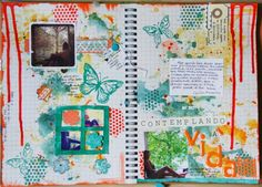 Inspiration -- I love the background with both the stamping and paint. Great idea!