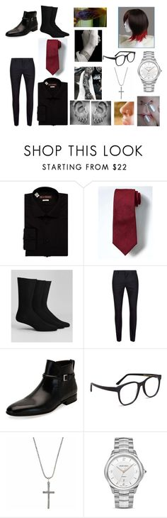 """hetalia preferences"" by dinobuggy ❤ liked on Polyvore featuring Hickey Freeman, Banana Republic, Calvin Klein, Topman, Salvatore Ferragamo, Larke, Serge DeNîmes and Giorgio Armani"