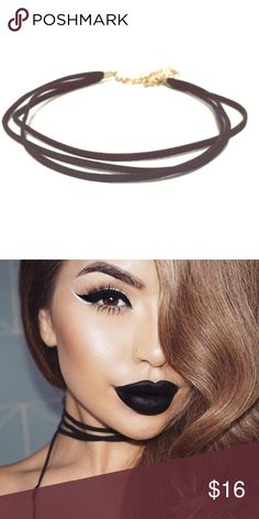 """Triple Layer Vegan Suede Choker Triple layer vegan suede choker features three layers of vegan suede for added glam and texture. Choker measures 11-14 1/2"""". ❌No Trades. Price FIRM unless bundled❌ Addison Ross Jewelry Necklaces"""