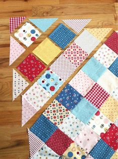 Quilts - Patchwork On Point Quilt Tutorial – Quilts Quilt Baby, Diy Baby Quilting, Baby Patchwork Quilt, Patchwork Quilt Patterns, Rag Quilt, Mini Quilts, Quilt Blocks, Tutorial Patchwork, Owl Quilts
