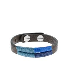 Caputo & Co. colorblock hand-stitched mens bracelet
