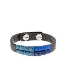 Caputo & Co. colorblock hand-stitched mens bracelet
