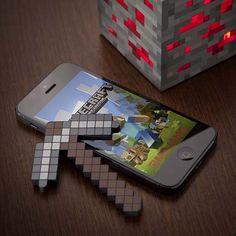 Minecraft Pickaxe Touchscreen Stylus: http://www.walletburn.com/Minecraft-Touchscreen-Stylus_1071.html $19.99 #minecraft #geek