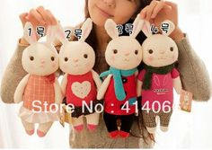 "Metoo Tiramisu Rabbit Plush Toys, 14"" Bunny Stuffed Animals, Lamy Rabbit Toy with Gift Boxes, Birthday Christmas Gifts0385#-in Stuffed & Plush Animals from Toys & Hobbies on Aliexpress.com 
