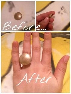 Vintage ring, easy!! #handmade