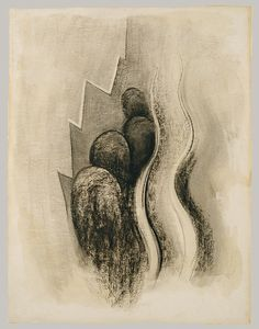 Drawing XIII, 1915, charcoal on paper, The Metropolitan Museum of Art ~ Georgia O'Keeffe (American, 1887-1986)