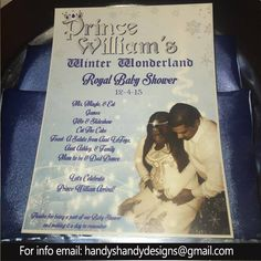 Want a Royal Baby Shower?? Email handyshandydesigns@gmail.com NOW!! #InvitationCards #personalized #Customized