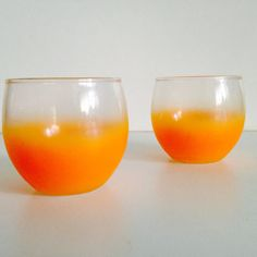 Blendo Roly Poly Cocktail Glasses Orange Set of Two