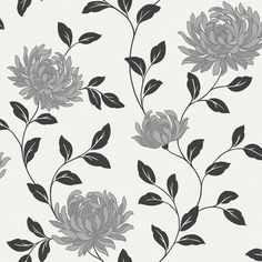 Wilko Functional Wallpaper Erin Black