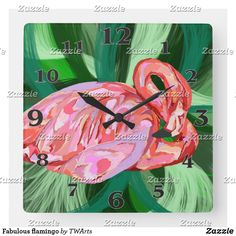 Shop Fabulous flamingo square wall clock created by TWArts. Wedding Invitation Wording, Invitation Cards, Activity Games, Baby Shower Games, Art For Kids, Wedding Gifts, Art Pieces, Clock, Wall