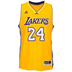 Los Angeles Lakers Adidas NBA Kobe Bryant  24 Home Swingman Jersey... ( b76f9a040