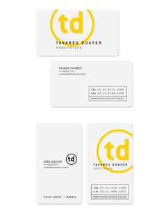 Corporate design for 'Tavares Duayer Arquitetura' by Flavio Carvalho Layout Design, Web Design, Creative Design, Design Cars, Login Design, Corporate Design, Business Card Design, Corporate Identity, Minimal Business Card