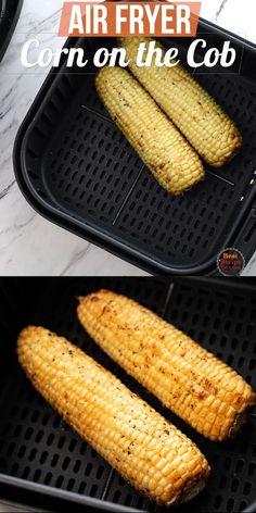 Air Fryer Oven Recipes, Air Frier Recipes, Air Fryer Dinner Recipes, Air Fried Vegetable Recipes, Fried Vegetables, Cooks Air Fryer, Corn Recipes, Ninja Recipes, Recipies