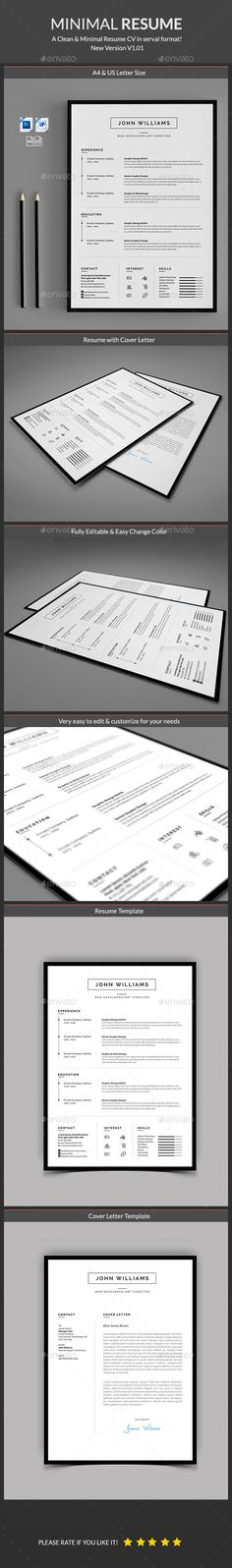 Buy Resume by Classicdesignp on GraphicRiver. Resume Word Template / CV Template with a super clean and modern look. Clean Resume Template page designs are easy to. Resume Layout, Resume Tips, Resume Writing, Resume Design, Resume Examples, Resume 2017, One Page Resume, Resume Format, Portfolio Web