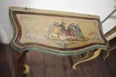 velencei barokk festett konzolasztal