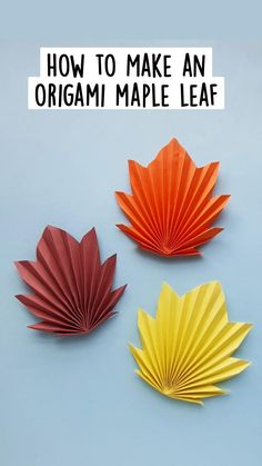 Christmas Crafts For Kids, Fall Crafts, Decor Crafts, Origami Maple Leaf, Maple Leaf Template, Leaf Cutout, Ganapati Decoration, Paper Crafts Origami, Preschool Crafts