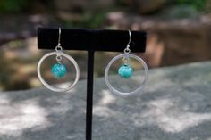 Sterling Silver and turquoise earrings by ElliottClaireJewelry, $28.00