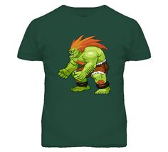 Blanka Street Fighter Video Game T Shirt