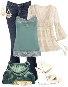 """Spring lace"" by madamedeveria on Polyvore"