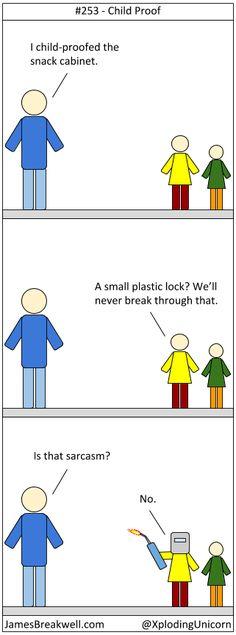 James Breakwell's Unbelievably Bad Webcomic: Child Proof