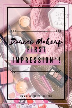 Doucce Makeup First Impression!* [ Beauty Obsessed ] Shading Drawing, Foundation For Oily Skin, Instagram Accounts To Follow, Old Makeup, Cardboard Packaging, Soft Corals, Lower Lashes, Blush Brush, Volume Mascara