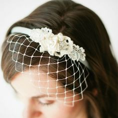 How-To: Birdcage Veil Headband from Claire of Bella Chiara