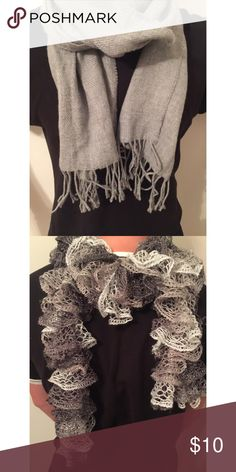 2 FOR $10 2 Gray scarfs Accessories Scarves & Wraps
