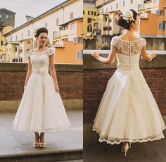 Choose 2016 new short beach wedding dresses lace top cap sleeve tea-length fairy bohemian bridal gowns vestidos de noiva cheap custom made on DHgate.com recommended by modeldress. Including muslim wedding dresses, non traditional wedding dresses and plus size wedding dress, DHgate.com provides you multiple choices.