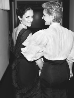 Carolina Herrera with daughter Carolina Herrera de Báez.