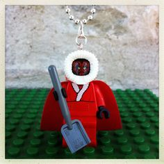 At last we will have Christmas together!  Great Christmas stocking idea for Star Wars Lego lovers!  Darth Maul dressed up as the grinch or Santa (you choose) hangs on a 46cm silver plated ball chain necklace and is nickel/lead free.  More Lego mini figure necklaces at gagabricks.etsy.com