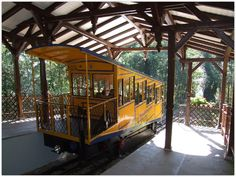 WIESBADEN (GERMANY): Neroberg Mountain Railway – since 1888 the carriages have moved up and down the mountain with 7.3  kilometers per hour driven by water ballast and therefore carbon  neutral.