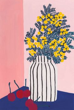 Coyote Atelier illustration love: flowers from Léa Maupetit. Painting Inspiration, Art Inspo, Daily Inspiration, Wal Art, Guache, Arte Pop, Painting & Drawing, Gouache Painting, Art Paintings