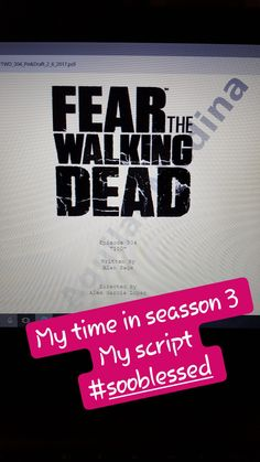 https://pherlhaa.wixsite.com/pherlhaaguilar/single-post/2017/11/21/My-Experience-in-Fear-The-Walking-Dead-Seasson-3- #newpost #blog #blogger #actress #actresslife #filming #tvseries #ftwd #3seasson #job #amazing #blessed