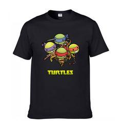 Ninja Turtle Fashion Print 100% Cotton Men's T-shirt