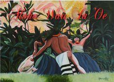 Printable DIY Hawaiian Valentine card 5x7 pdf from Kauai Hawaii I Love You Aloha Wau Ia Oe. $3.00, via Etsy.