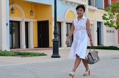 the perfect white shirtdress
