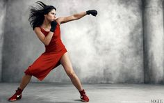 Olympic boxer, Marlen Esparza in Vogue.  Maybe Vogue isn't totally ridiculous after all.